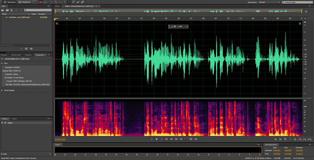 Audio File Editing